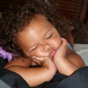 cute baby sleep flower